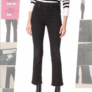 Rag&Bone the Hana High rise cropped black jean